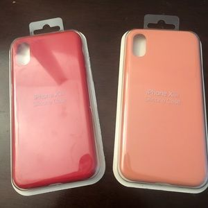 Accessories - Iphone XS Cases Red and Pink (Silicone Case)
